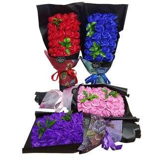 Aromatic Unfading Soap Flower Party Bath Gift Lover Anniversary Fine Petal Rose With 4 Colour