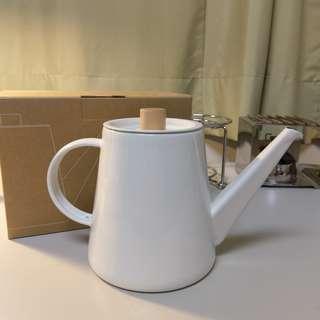 🚚 日本Kaico 琺瑯手沖壺 咖啡壺 (1.3L) Japanese kettle 不接受換物
