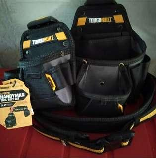Tough built tool belt set handyman