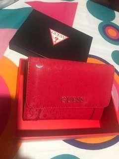 Authentic GUESS trifold wallet used once