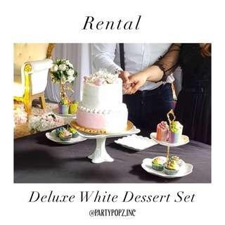 White European Style Dessert Stands/Trays [ RENTAL ]