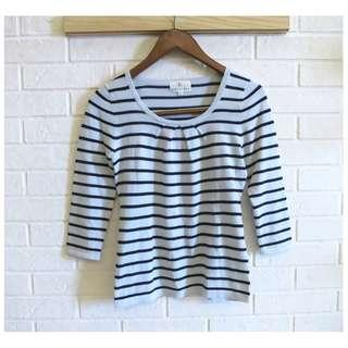 日本品牌 KUMIKYOKU K組曲簡約條紋針織衫 2