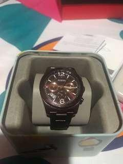 Authentic Fossil ES4110 analog watch SS metal B