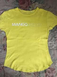 Mango yellow shirt