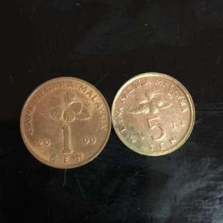 Malaysia 5 Cents Coin