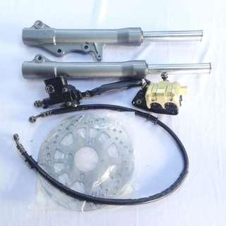 New Set of Brake Lever Master Pump Caliper Disc With Fork Yamaha Lagenda SRL110 / 115 LC135 Part