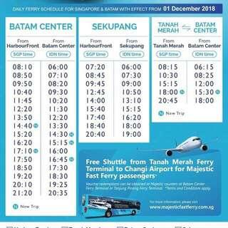 Batam ferry ticket majestic 2 way all in