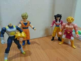 Dragonball z set of 4 small figurines
