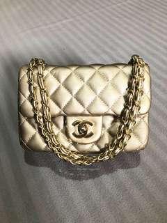 Sling Bag KW Chanel Gold