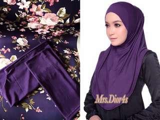 🚚 Dark Violet Full Instant Shawl (Comfy)
