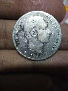 1885  20 cents Alfonso coin