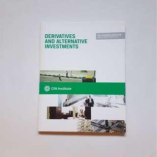 DERIVATIVES AND ALTERNATIVE INVESTMENTS:  CFA PROGRAM CURRICULUM 2013 LEVEL 1 (VOLUME 6)