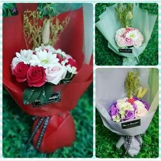 Aromatic Unfading Soap Flower Party Bath Gift Lover Anniversary Fine Petal Rose With 3 Colour