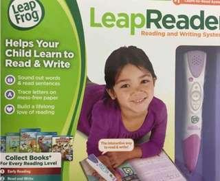 送禮一流 全新美國LeapFrog LeapReader 跳娃點讀筆Reading and Writing System - Pink 兒童幼兒英語點讀筆點讀書早教套裝3-6歲玩具 McQueen learning
