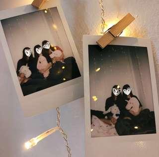 Polaroid printing service (Fujifilm instax mini) room decor