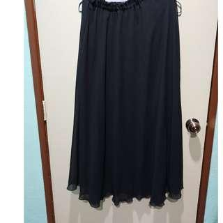 3 helai RM20 Black skirt - chiffon