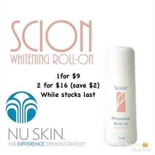 🚚 Scion Whitening roll on deodorant