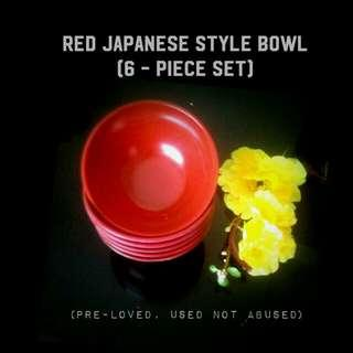 6-piece Japanese Style Side Bowl
