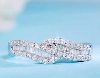 18K金天然鑽石戒指 附證書 Natural dia ring 2999 鑽dia 0.46ct