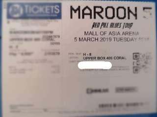 Maroon 5 Red Pill Blues Tour Upper Box Ticket