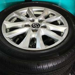 "Mazda 16"" Stock Rim and Gd Condition Sec Hand Tyres!"