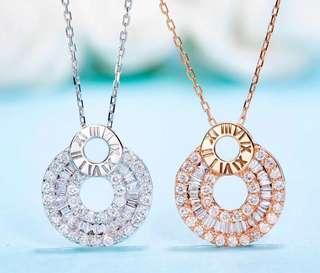 18K金天然鑽石項鏈 附證書 Natural dia necklace2999 鑽dia 0.36ct