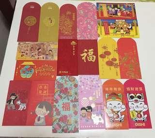 12pcs Random 2018 Angpow Red Packet