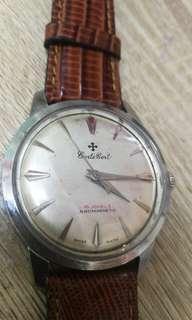 古董確得佩上鍊男装表