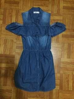 Abercrombie Kids Chambray Cold/Off-shoulder dress