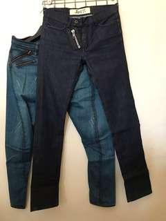 april 77 super skinny slim raw jeans