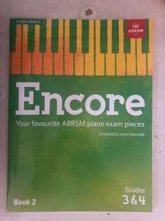 Piano abrsm grade 3, 4 books