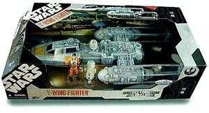 🚚 Star Wars 30th Anniversary Y-WING FIGHTER Toys R Us Exclusive with Exclusive Y-Wing Pilot & R5-F7 Droid Figures by Hasbro