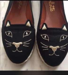Authentic charlotte olympia kitty capri flat