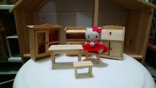 Hello Kitty and Wooden Furnitures