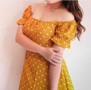 Pokka Dress in Mustard (premium)