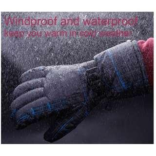 WATER RESISTANT WINDPROOF WARM SKI GLOVES FOR CYCLING RIDING SNOWMOBILE SKATING PROTECTING HANDS