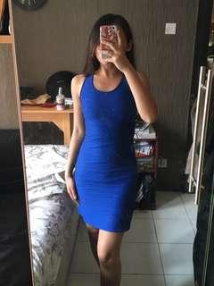 FOREVER NEW Electric Blue Textured Dress