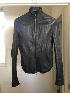 OBSCUR 洗舊處理羊皮外套(XS)