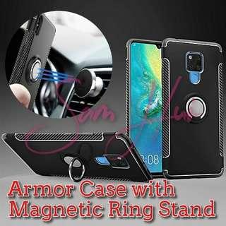 Tough Armor case - built-in retractable Magnetic Ring Stand
