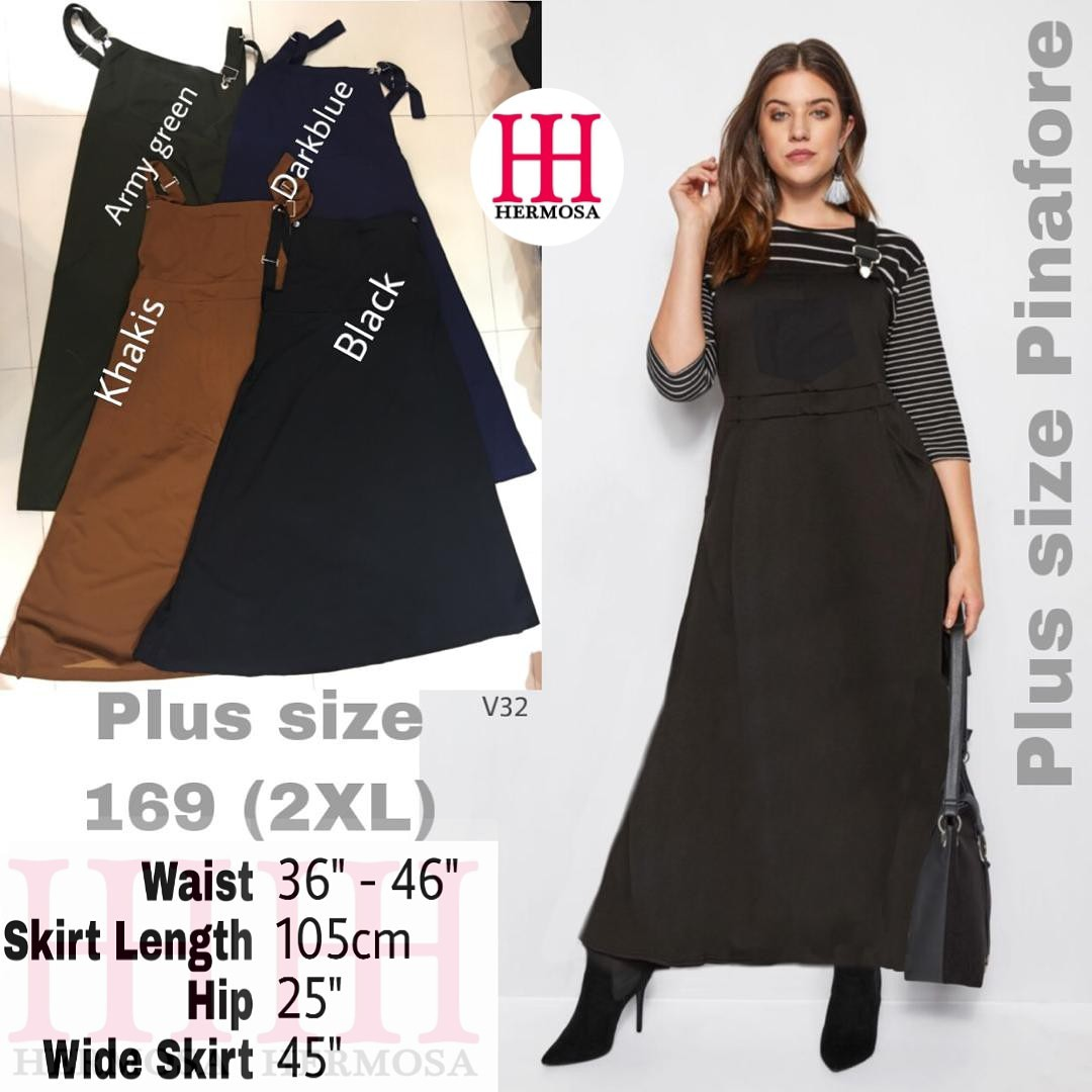 another chance complete range of articles hot-selling official (SALE 22/03/19 TILL 12/04/19) 169 PLUS SIZE PINAFORE