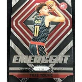 🚚 Trae Young 2018-19 NBA Panini Prizm Emergent Insert Rookie Card
