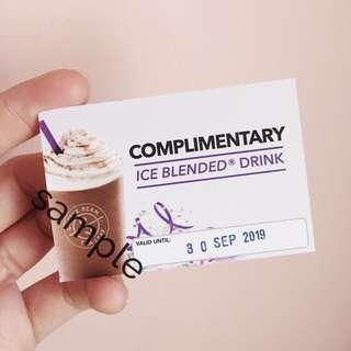 FREE Ice Blended Drink Voucher (Coffee Bean & Tea Leaf)
