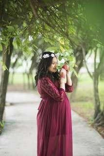Maternity photoshoot dress