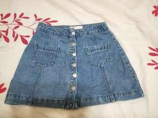 🚚 Aitspace排扣短裙 M