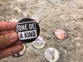 🚚 Assorted Design Metal Badges Grab Bag!