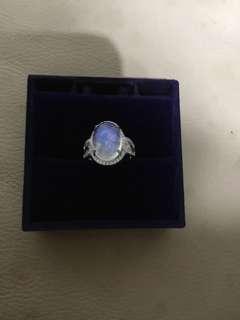 🚚 藍月光石戒指