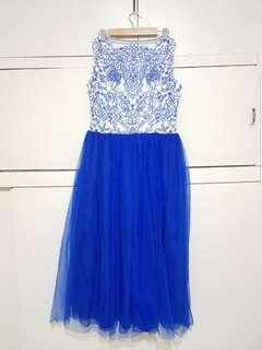 Blue Tulle Gown or Dress