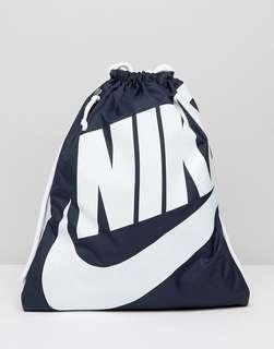 🚚 Nike Drawstring Bag Heritage School Backpack Gymsack