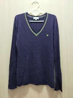 🚚 V領紫色針織上衣