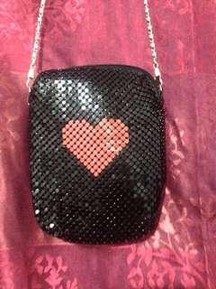 Sequin❤️black chain bag